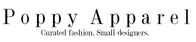 Poppy Apparels logo. Poppy Apparels collaboration with winkl for their influencer marketing campaign.